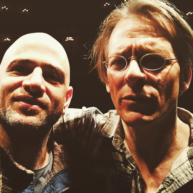 Selfy with my old friend Ohad Ben Ari in Reggio Emilia after rehearsing