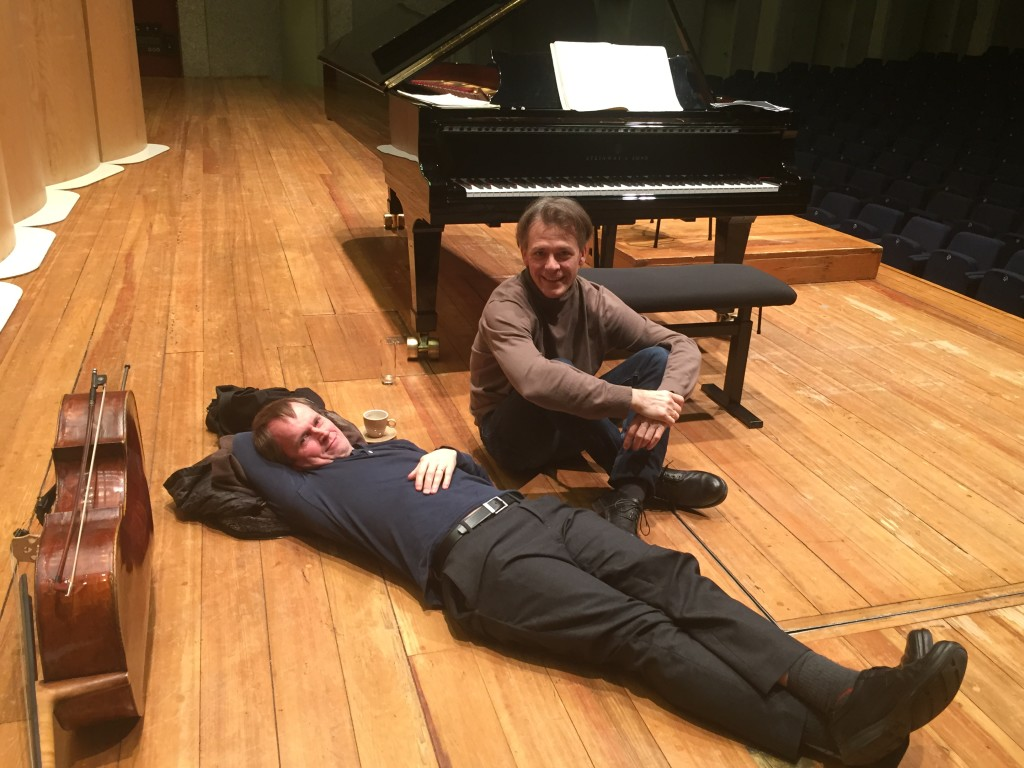 Exhausted after intense rehearsal in Antwerp